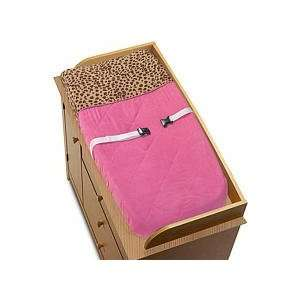 Cheetah Girl Pink and Brown Changing Pad Cover Baby