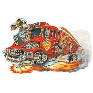 24 *Firebreather* Fire Truck Car Wall Graphic Full Color