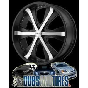 20x9 HELO wheels HE869 Satin Black Machined wheels rims Automotive