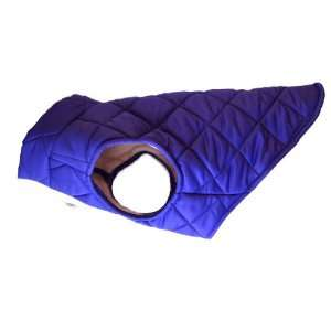 American Digs Quilted Puffer Dog Coat Medium Purple, Fits
