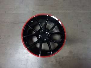 Corvette C6 Z06 Spyders Black Red Stripe Wheels rims for C5 or C6