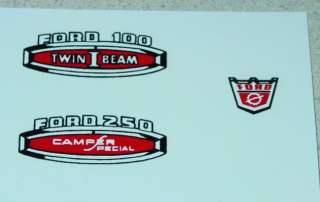 Nylint Ford Camper Special Truck Decal Set NY 043