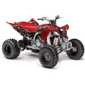 , 2010 Yamaha YFZ 450 ATV Quad, Graphic Kit   Reaper Red Automotive