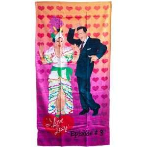 Love Lucy Lucille Ball & Desi Arnaz Beach towel