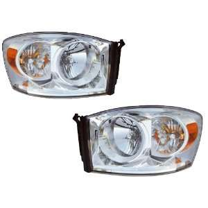 Dodge Ram Pickup OE Style Replacement Headlight W/Xenons Headlamp Pair