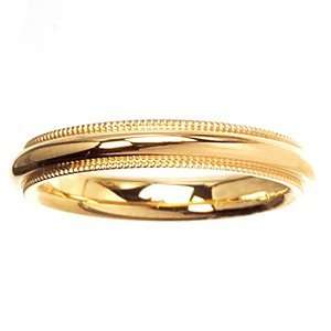 ARTCARVED COVENANT Mens 14k Two Tone Gold Wedding Band