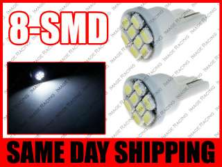 SMD SUPER BRIGHT WHITE LED LICENSE PLATE LIGHT BULBS 194 T10 2825