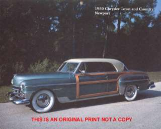 1950 Chrysler Town & Country Newport rare car print