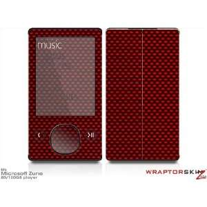 Zune 80/120GB Skin Kit   Carbon Fiber Red plus Free Screen