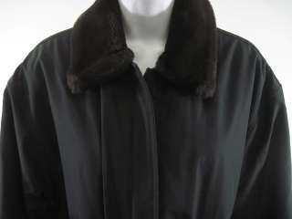 MARC NEW YORK Black Brown Faux Fur Trim Coat Jacket S