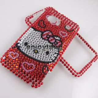 Bling RED Crystal Hello Kitty case COVER for HTC Incredible 2 S G11 #1
