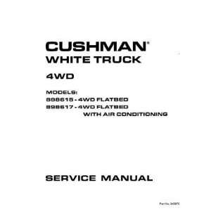 Gas Cushman 4 Wheel Drive White Truck and White Van Utility Vehicle