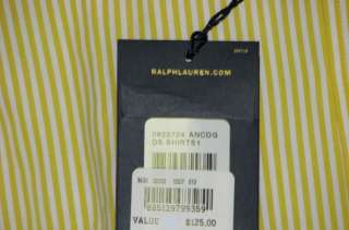 125 NWT POLO RALPH LAUREN MENS CUSTOM DRESS SHIRT 15.5