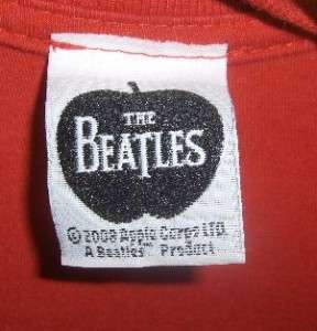 Womens THE BEATLES~Abbey Road~ Red T Shirt Shirt Size S