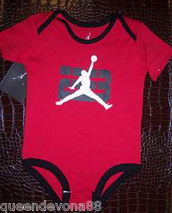 Nike Air Jordan Jumpman 23 Infant Baby Newborn Romper Onesie Bodysuit