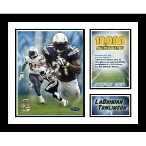 San Diego Chargers NFL Framed 10,000 Rushing Yards Milestone Collage