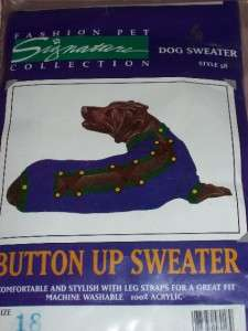 Pet Dog Sweater Coat Winter Clothing Large NEW ~U Pick