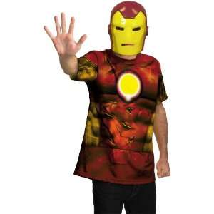Lets Party By Disguise Inc Iron Man Shirt And Mask Adult Costume / Red