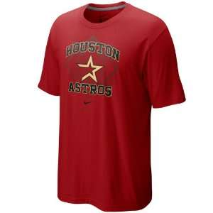 Nike Houston Astros Brick Red Team Arch T shirt (Large