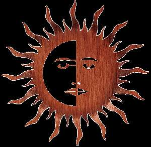 METAL ART SOUTHWESTERN SUN MOON WALL HANGING HOME DECOR