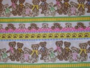 Lot of 2 BOYDS BEARS Baby Burp Cloths RAGS Pink Stripes