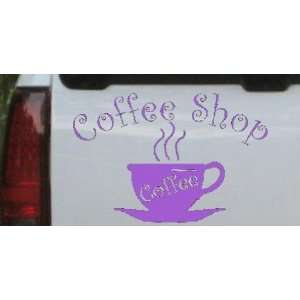Coffee Shop Cup Business Car Window Wall Laptop Decal