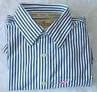 HOLLISTER CALIFORNIA, mens green stripe dress shirt, M