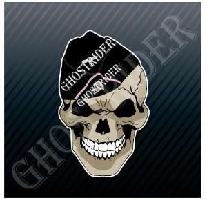 Skull German Soldier Head Car Trucks Sticker Decal