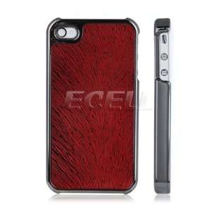 BLACK CHROME RED VEINS BACK CASE COVER FOR iPHONE 4 4G Electronics