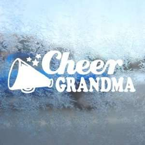Cheer Grandma White Decal Car Laptop Window Vinyl White Sticker