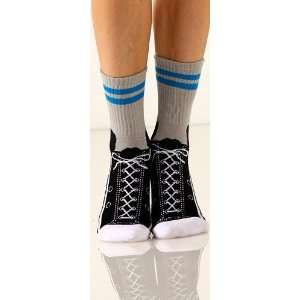 Foot Traffic Womens Non Skid Sneaker Slipper Socks