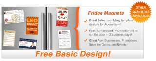100 2x3.5 Custom Personalized Fridge Refrigerator Business Card