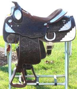 Oak Leaf Fully Tooled Silver Showman Western Trail Show Saddle
