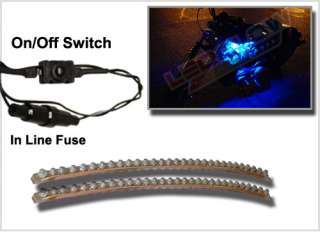 2pc BLUE LED FLEXIBLE HARLEY DAVIDSON SPORTSTER LIGHTS