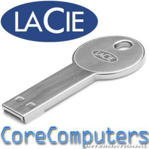 LaCie CooKey 32GB Key shaped USB Drive Flash Mac PC