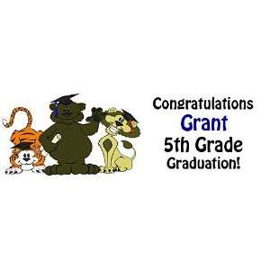 Kindergarten Graduation Personalized Banner 18 Inch x 54