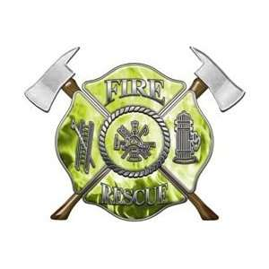 Firefighter Fire Rescue Firefighter Decal Inferno Yellow