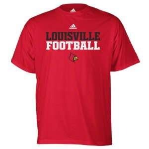 Louisville Cardinals Red adidas 2011 Football Practice T