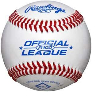Rawlings R100 Official League Leather Baseballs   One