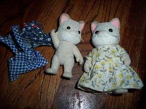 Older TOY 1985 EPOCH SYLVANIA FOREST FAMILY COLLECTION CATS FIGURE