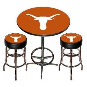 Texas Longhorns UT NCAA Chrome Pub Table & Chairs