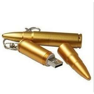 AMP 4gb Gold Bullet Shaped USB Flash Drive