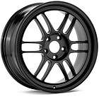 17 ENKEI RPF1 RIMS WHEELS BLACK 17x8.5 5x114.3 +30