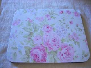 Mouse Pad made with Rachel Ashwell Shabby Chic Treasures Pink Rose