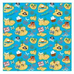 Lets Party By Amscan Pirate Gift Wrap