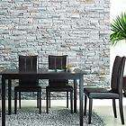 New Eugene Dark Brown Chairs & Table 5 Piece Modern Contemporary