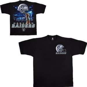 Liquid Blue Oakland Raiders Sky Helmet T Shirt Large