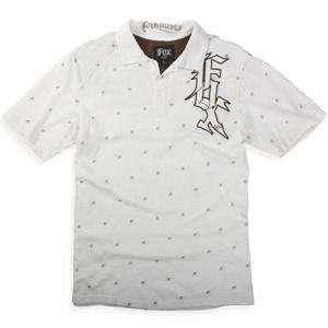 Fox Racing Phenom Polo   Medium/White Automotive