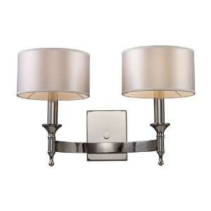 Pembroke Collection 2 Light 19 Polished Nickel Wall Sconce with