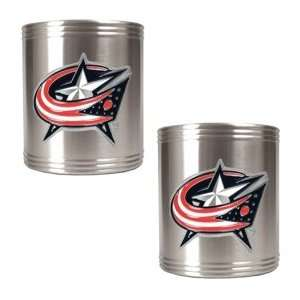 Columbus Blue Jackets 2pc Stainless Steel Can Holder Set